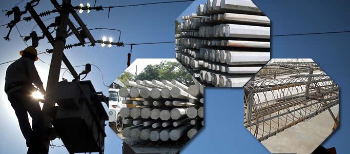 Postes de concreto reforzado empleados para la transmisión y distribución de la energía eléctrica